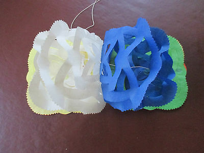 4 X Vintage Paper Garland Christmas Decorations