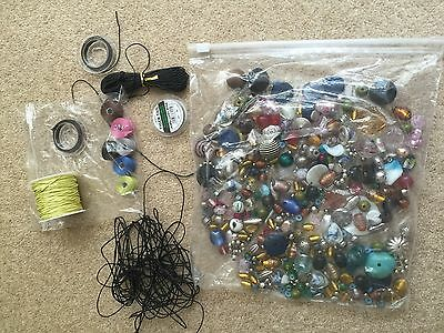 Jewellery making and craft DIY bundle charms, beads, pendants necklace string