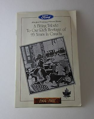 Ford Motor Company of Canada 1904-1997 Commemorative Leaflet