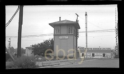 """orig. 1950  2 3/8"""" x 4"""" Negative - Southern Pacific Tower Burbank"""