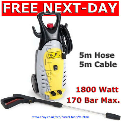 FREE NEXT-DAY Compact High Pressure Jet Washer Pro 1800W DirtBlaster 170 Bar Max