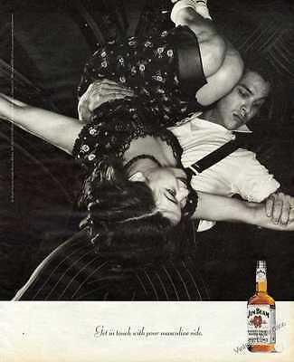 "1998 Jim Beam Kentucky Straight Bourbon Whiskey ""Your Masculine Side"" Print Ad"
