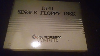 Commodore 64 Computer 1541 Floppy Disc Drive with manual power supply and Game