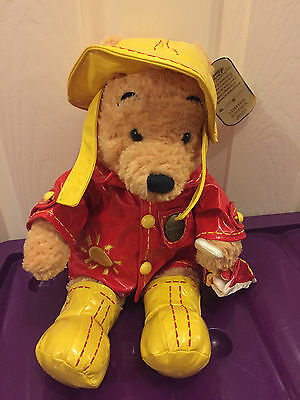 Disney Store Limited Edition Winnie the Pooh in Raincoat and Hat Plush Toy