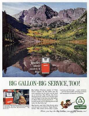 1963 Cities Service  Super 5-D Premium Gasoline Print Ad