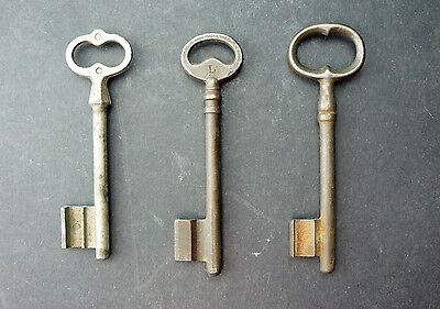 Three Early French Large Keys