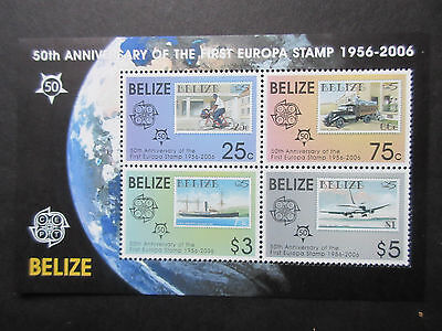 Belize 2006 50th Anniv of Europa Stamps Mini Sheet. MNH