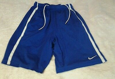 nike men small blue lined  athletic shorts