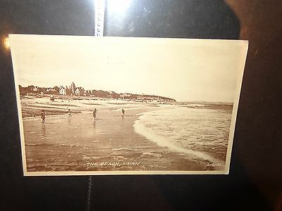Postcard, The Beach, Nairn, Highlands, Scotland Valentines sepiatype 1955 1-x