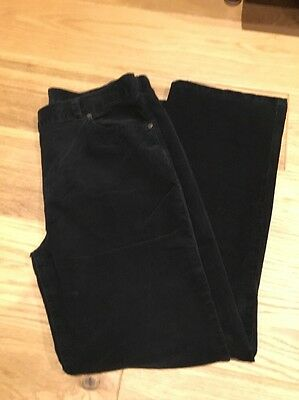 M & S  Ladies Black Trousers Chords U.K. 16