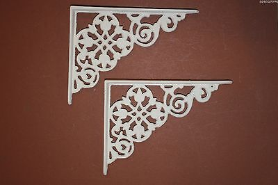 (2) Christmas Gift For Her, Diy Shelving Brackets, Cast Iron,flower Design, B-30