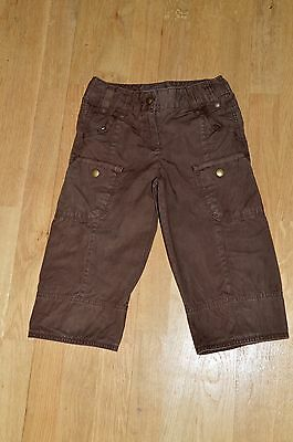 Next Brown Cropped Cargo Trousers Age 6