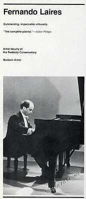 1977 Fernando Laires Photo Pianist Small Vintage Music Trade Ad