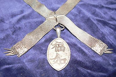 Chinese Silver Necklace Early 20Th Century