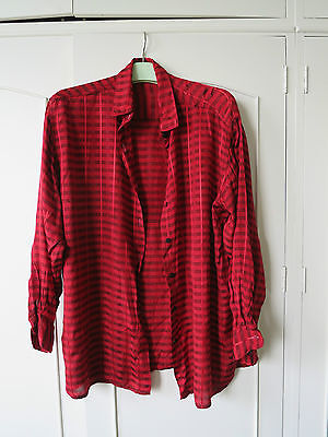 Vintage 1970's baggy red shirt blouse