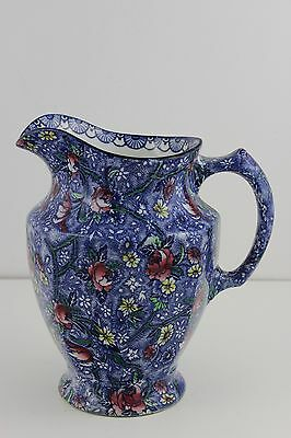 Maling Ware Ringtons Blue Chintz Large Jug Newcastle  c1920/30's 19cm High