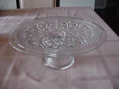 Vintage Imperial Glass Cape Cod Footed Cake Plate