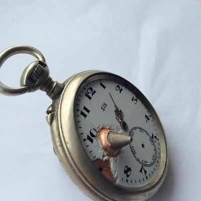 WW1 life saver pocket watch trench art - unique Christmas gift