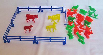 Vintage Toy Farm Animal And Fence Set