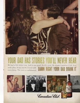 """2009 Canadian Club Print Ad-""""your Dad Has Stories You'll Never Hear"""" Bar Ad"""