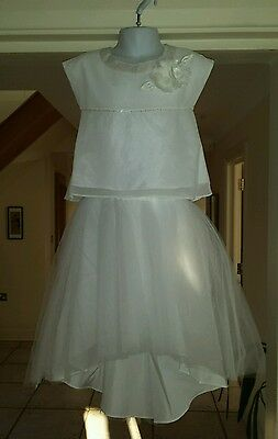 Bnwt Girls Aged 4 Years Ivory Monsoon Bridal 2 Piece Full Skirt And Top Rrp £50