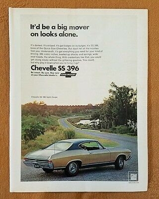 1968 Chevrolet Chevelle SS 396 Ad. Car Chevy GM 396