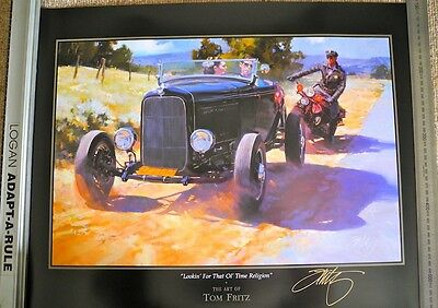 HOT ROD PRINTS signed by Tom Fritz