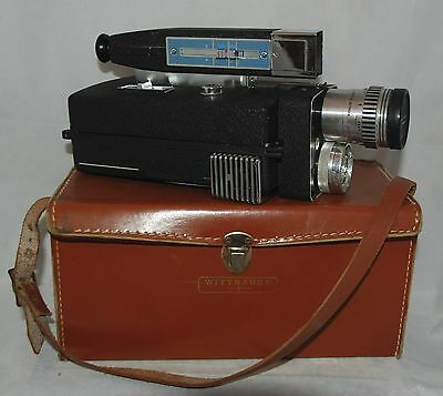 Vintage Wittnauer Cine Twin Automatic Zoom 800 Movie Camera 8mm and Case