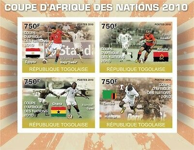Africa Football Cup of Nations 2010 m/s Togo 2010 Mi. 3679-82 MNH #TG10303a
