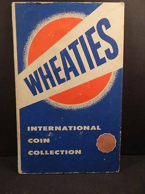Wheaties International Coin Collection in Original folder 1954  Tray 4