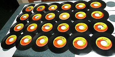 "The BEATLES Low Grade Lot of (24) 45's Records 7"" 45 RPM Vinyl CAPITOL SWIRL"