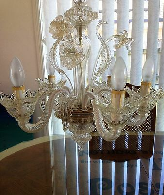 murano glass chandelier, PICK UP ONLY FROM QLD 4511