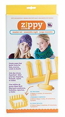 "Authentic Knitting Board KB Zippy Loom Master Set, Yellow, 7"" X 15"""