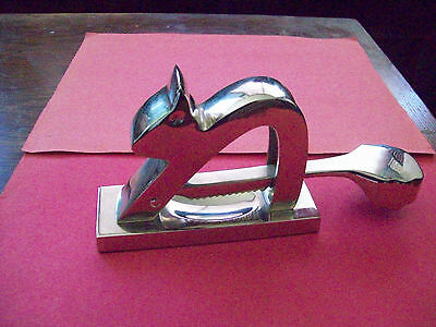 Unused Stainless Steel  Squirrel Nut Cracker  Chrome Finish