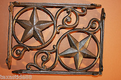 (4) Lonestar, Shelf Brackets, Corbels, Iron, Antique Look, Vintage Style, B-19