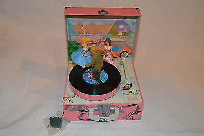 """Enesco Barbie """"Let's Go to the Hop"""" Action Musical Music Box"""