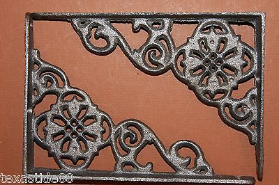 (18) Flower, Antique Look, Corbels, Shelf Brackets, Small, Cast Iron B-11