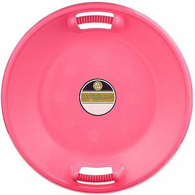 Lucky Bums Plastic Saucer Sled, 25-Inch Diameter, Pink