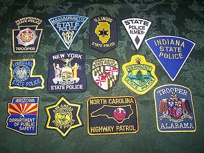 Set of all 50 State Police / Trooper / Highway Patrol Patches - NEW