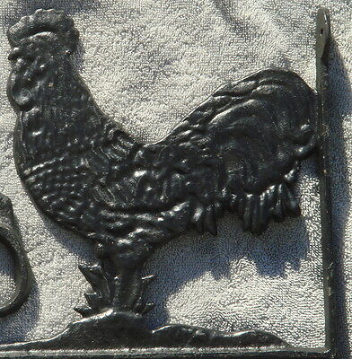 Two Rooster Cast Iron Brackets Plant Hangers
