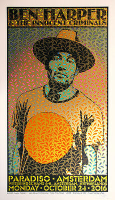 Ben Harper & The Innocent Criminals Chuck Sperry Poster Print Amsterdam