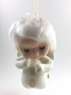 Vintage Christmas Ornament Angel Girl in Footie Pajamas Made in Japan Decoration