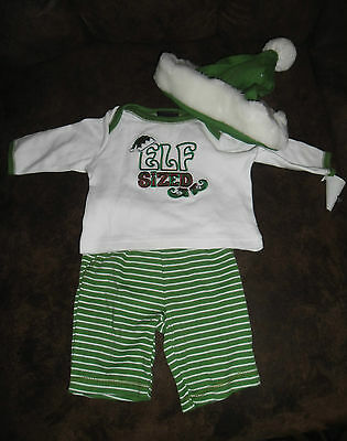 Newborn Baby 3-Piece Elf Sized Christmas Outfit
