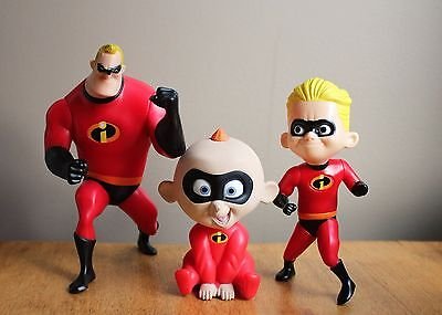 3 THE INCREDIBLES Figures DAD DASH & BABY