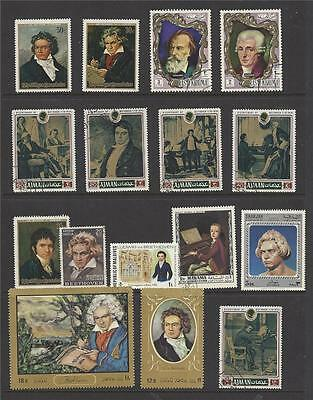BEETHOVEN Music Stamp Collection stamps lot