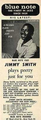 """1978 """"Jimmy Smith plays pretty"""" Small Blue Note Records Ad"""