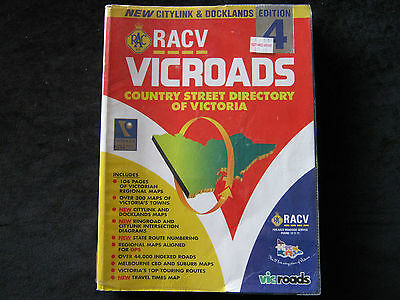 Racv/ Vicroads, Country Street Directory Of Victoria, 2000 Edition 4