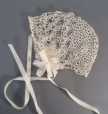 Vintage Tatted Lace Baby or Doll Bonnet