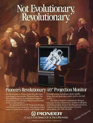 "1987 Pioneer's Revolutionary 40"" Projection Monitor Vintage Television Print Ad"
