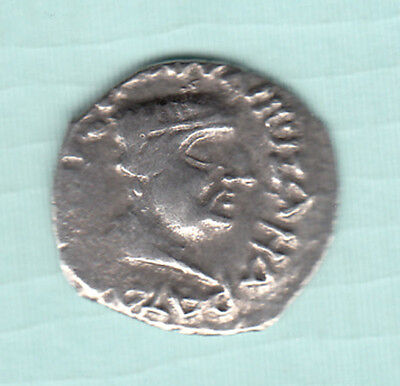 India NAHAPANA Dynasty 2000 Years Old Extremely RARE Silver Ancient Coin 2